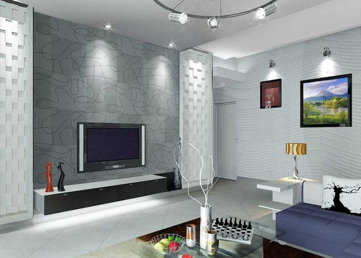 Wall Mount TV Living Room Design Ideas with wall pictures
