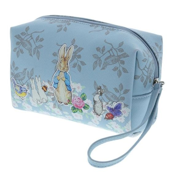 This beautifully made Peter Rabbit Wash Bag is part of the Peter Rabbit Adult Accessories Collection created by Enesco.  Beatrix Potter was not only a wonderful Story Teller but she was also a very accomplished artist and some of her original illustrations are featured on the Wash Bag