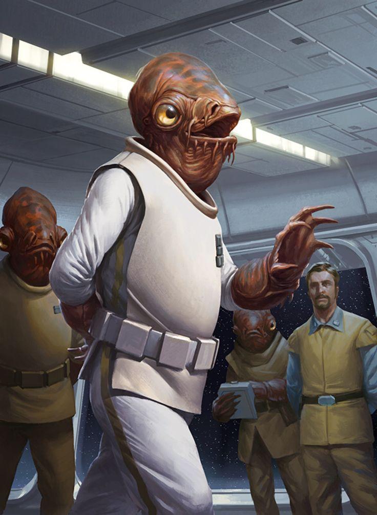 Star Wars Armada - Admiral Ackbar by wraithdt on @DeviantArt