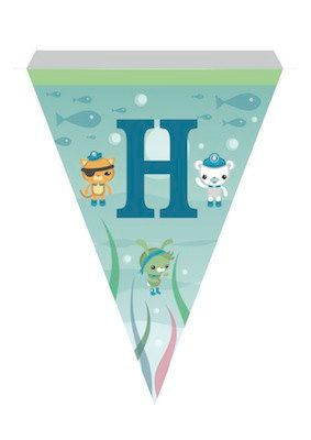 The Octonauts Printable A to Z Bunting