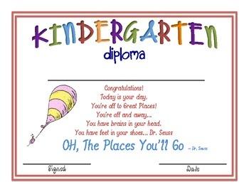 Kindergarten Graduation Diploma