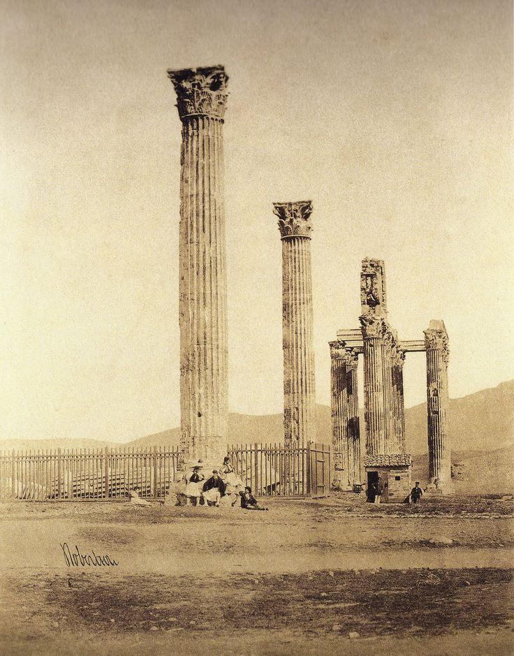Φωτογραφία του James Robertson: Ο ναός του Ολυμπίου Διός. Αθήνα 1853-1854. Photo by James Robertson: Temple of Olympian Zeus. Athens 1853-1854