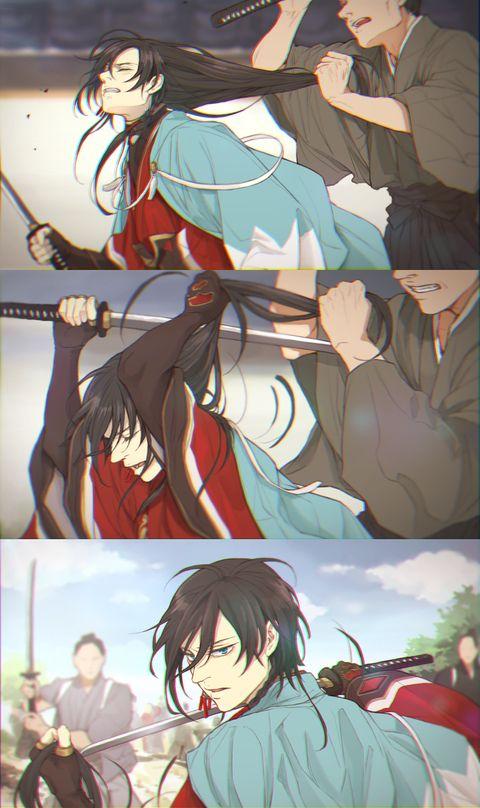 「髪切り」/「twoframe·ツーフレーム」のイラスト [pixiv] Touken Ranbu   Izumi no Kami Kanesada