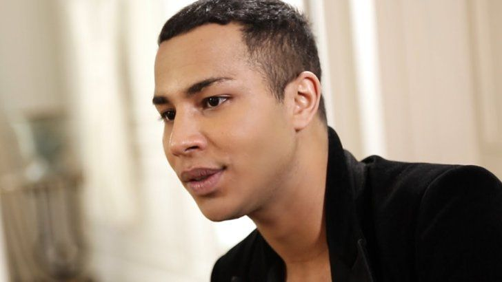 "Pin for Later: Balmain x H&M Hits Stores Today  Designer Olivier Rousteing said that growing up, he used clothes to identify himself and that Balmain is ""a vision of a new world."""