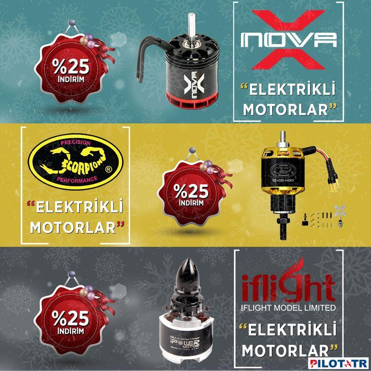 Yılbaşına Özel Elektrikli Motorlarda %25 İndirim! http://www.pilottr.com/indirimli-urunl…/elektrikli-motorlar/ #pilottr #yılbaşı #elektrik #motor #rcmodel #scorpion #iflight #xnova #modelmotor #fırsat #kampanya #büyükindirim #like