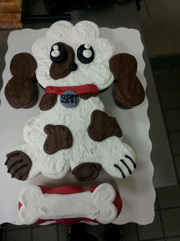 Puppy Cupcake Cake!