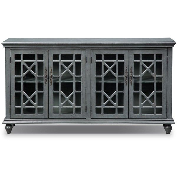 Grenoble Distressed Gray Media Credenza ($600) ❤ Liked On Polyvore  Featuring Home, Furniture