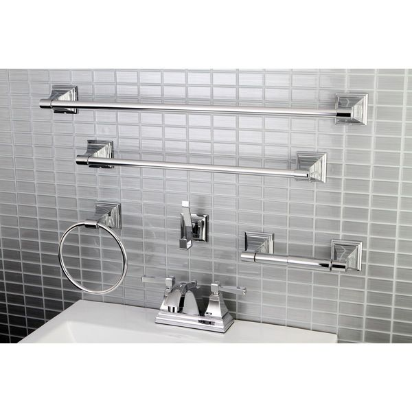 99 Modern Square Chrome Metal Faucet Towel Rack Bathroom Faucet Bathroom Accessory Set Overstock