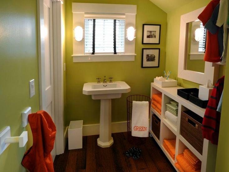 Bemalte Badezimmer schaffen Umgebungen mit frischen Farben.