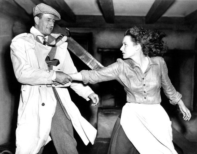 EL HOMBRE TRANQUILO. Maureen O´Hara y John Wayne