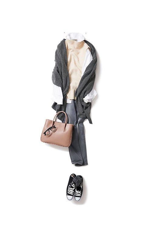 Kyoko Kikuchi's Closet #kk-close 柔らかな自分でいたい日の、白×グレー