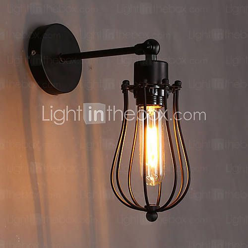 E27 220V 12*23CM 5-15㎡ Creative Personality Decorative Wrought Iron Retro Grapefruit Wall Lamp LED 4524742 2016 – $50.99