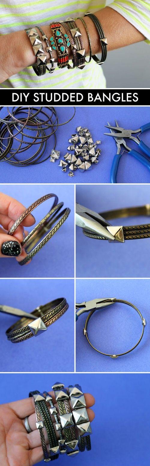 DIY studded bangles