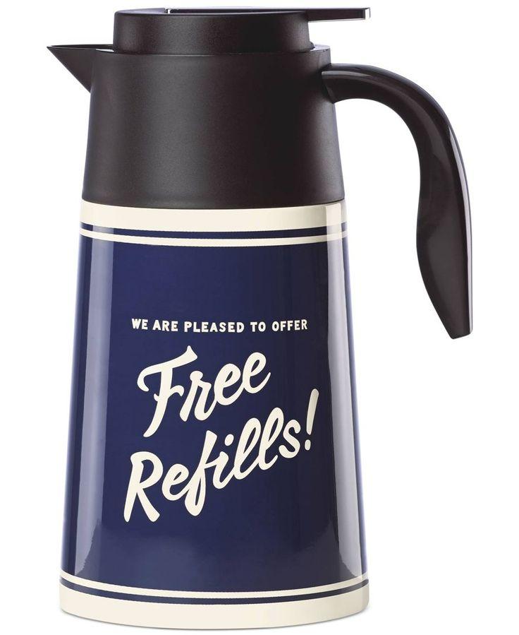 "kate spade new york Order's Up ""Free Refills"" Hot Beverage Carafe"