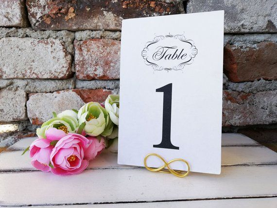 Infinity Table Number Holder Gold Table Centerpieces Silver Menu Stand Wedding Table Decor Stands Number Card Holder Reception Event Wedding Table Card Holder Place Card Holders Wedding Table Number Holders