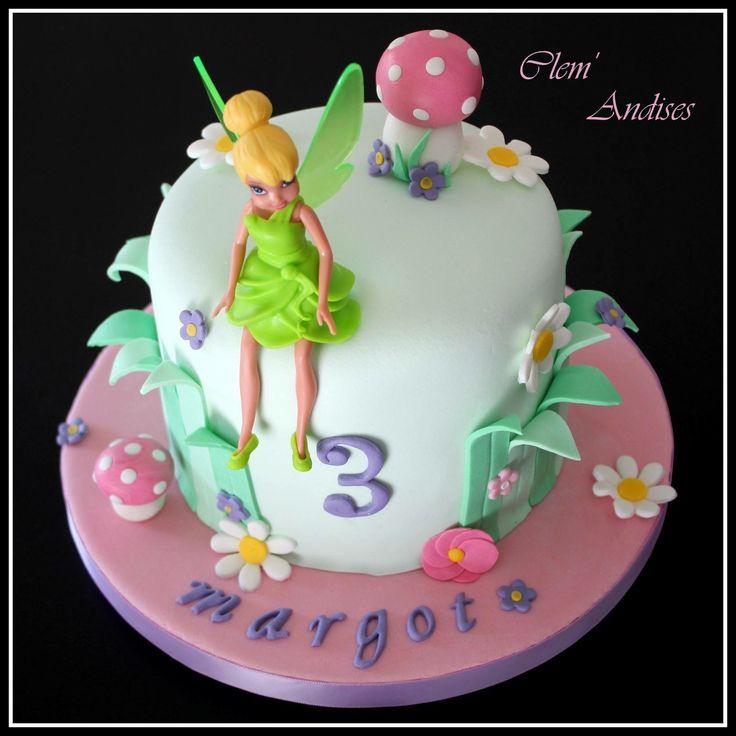 Gâteau cake design fée clochette