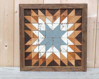 wooden barn star quilt block reclaimed wood quilt block