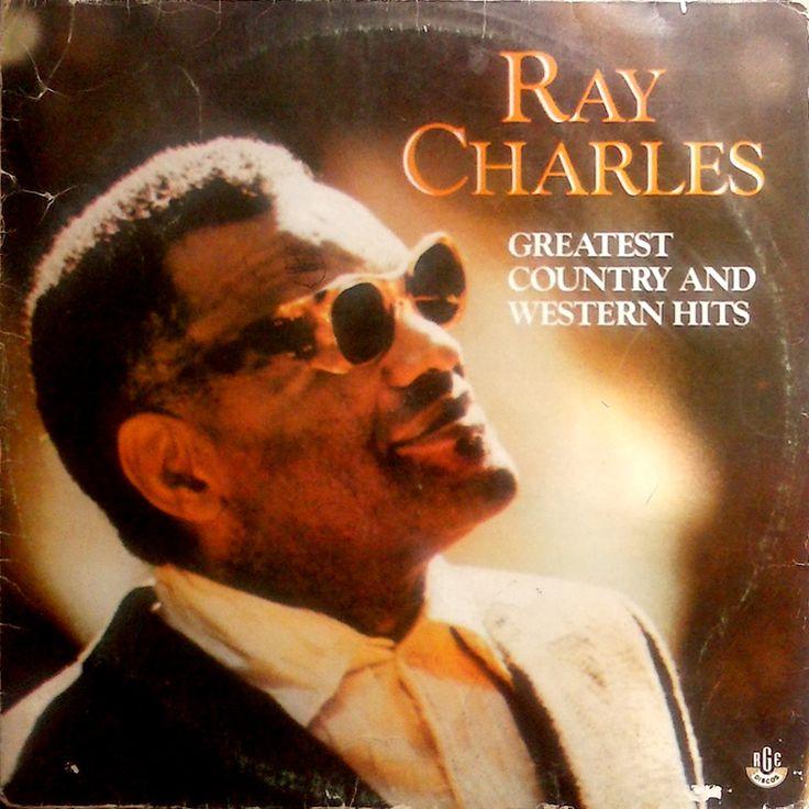 """Ray Charles – Greatest Country And Western Hits    Coletânea com clássicos da música country e western interpretados pelo mestre da soul music americana Ray Charles. O Disco foi lançado em 1989 pela RGE e contém faixas como """"I Can't Stop Loving You"""", """"Hey Good Lookin'"""", """"You Are My Sunshine"""" entre outras."""