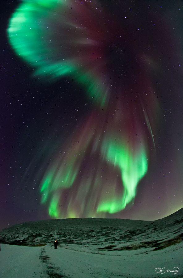Aurora sobre a Noruega