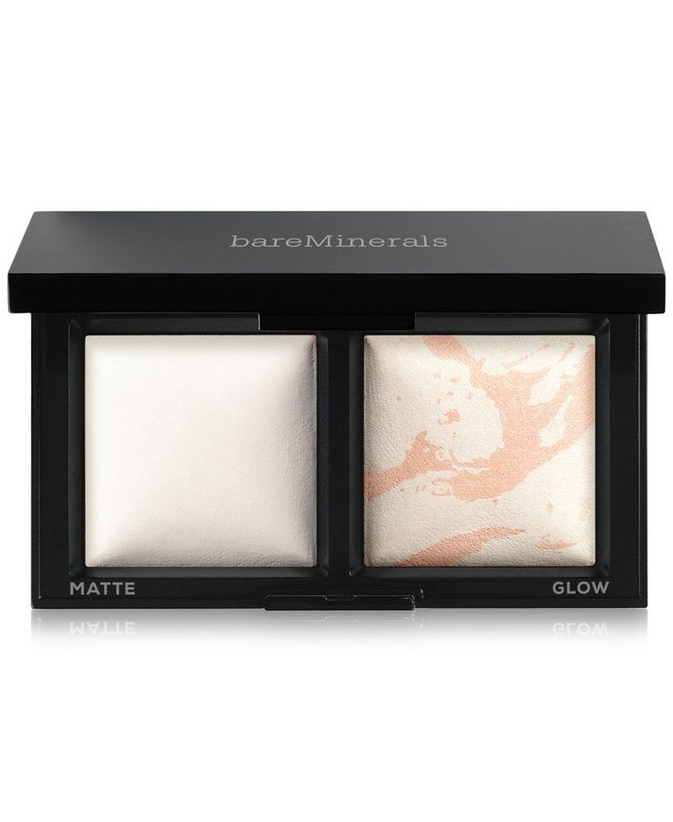 Bare Minerals Invisible Light Translucent Powder Duo, has a setting powder and a shimmery highlight
