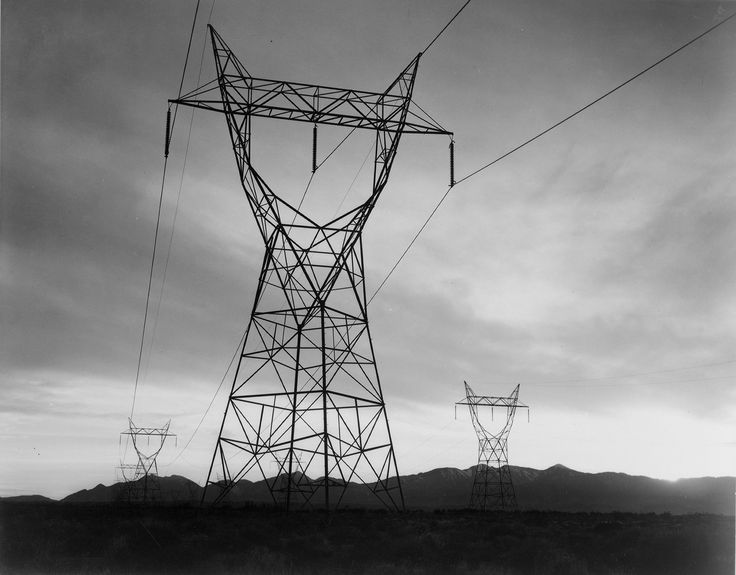 Transmissions Lines in Mojave Desert, 1941 (http://www.archives.gov/research/ansel-adams/images/aab03.jpg)