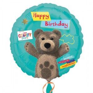 Balony foliowe napełniane helem z motywem z bajki Mały Miś Kuba na urodzinowe przyjęcia dla dziecka.
