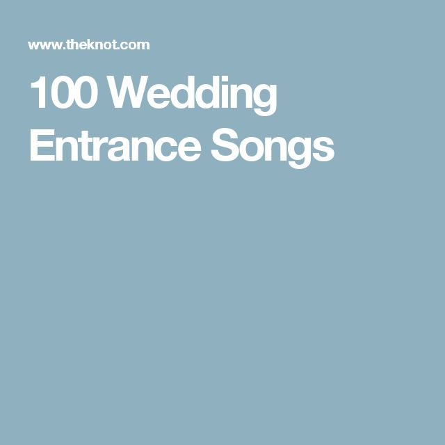 Wedding Party Entrance Dance Ideas: 25+ Best Ideas About Wedding Entrance Music On Pinterest