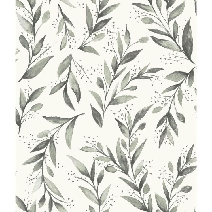 Magnolia Home by Joanna Gaines 56 sq.ft. Olive Branch Wallpaper, Olive Grove
