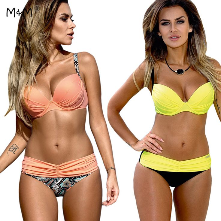 cool M&M New Sexy Bikinis Women 2017 Push Up Swimwear Female Brazilian Bikini Set Beach Bathing Suit Biquini Maillot De Bain Femme