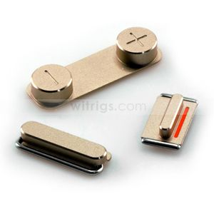 OEM Side Button Set for iPhone 5S Gold - Witrigs.com