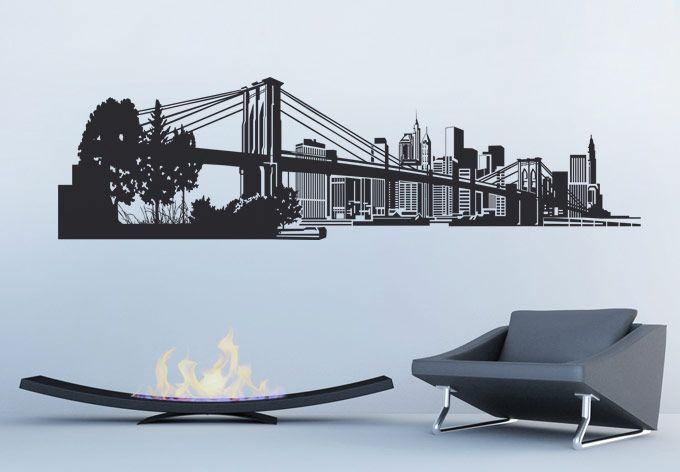 Vinyl Wall Decal NYC via: http://www.my-wall-decal.com/wall-decal-new-york-skyline-3-3672.html#.Utq22aX0CP8