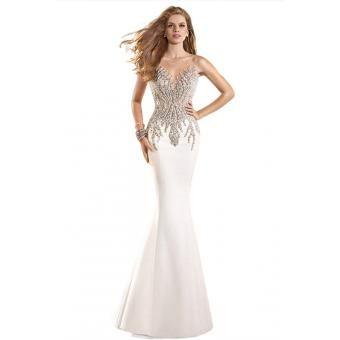 vestidos de sirena de cuentas, vestido largo, vestido de noche, vestido formal, vestido maxi, vestido de partido, blanco