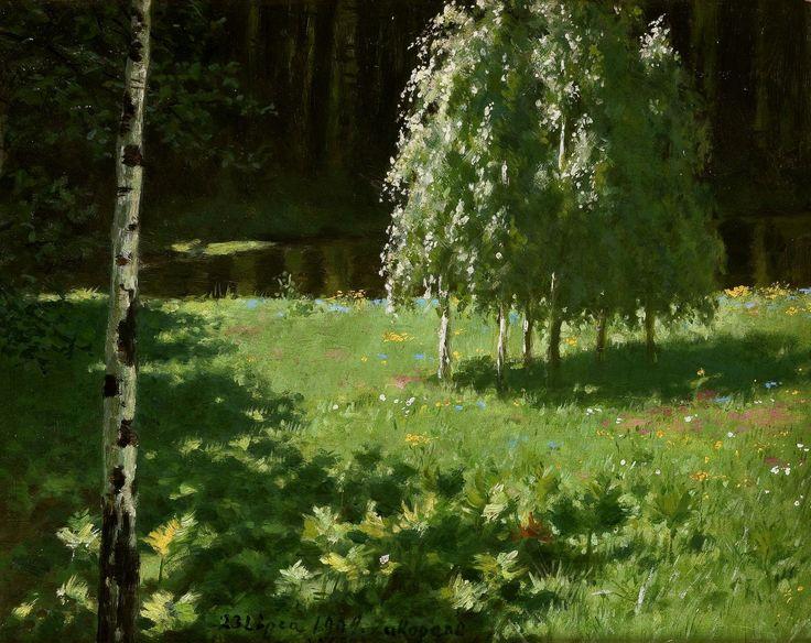 Birch-trees by Stanisław Witkiewicz, 1904 (PD-art/old), Muzeum Narodowe w Krakowie (MNK)