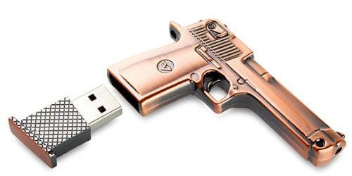 8 GB Metal Gun USB Flash Drive $14.99