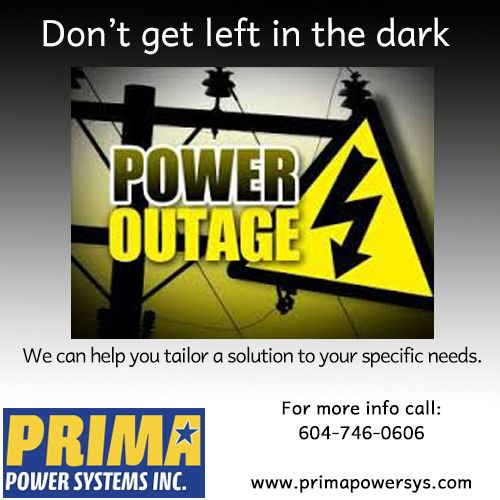 *CLIENT PROMOTION WEEK!* Is it crucial to your business to have a reliable standby power source? These guys have the technology and the answers to get the right #Generator and do all the electrical wiring needed for the job. Improve your Power Factor! Call them today at: 1-604-746-0606 www.primapowersys.com