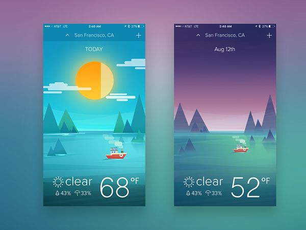 Hello Guys :)This is my latest weather app look.I wanted to create the new style I've never tried.I hope you guys like it.Any comments are welcomeThank you.