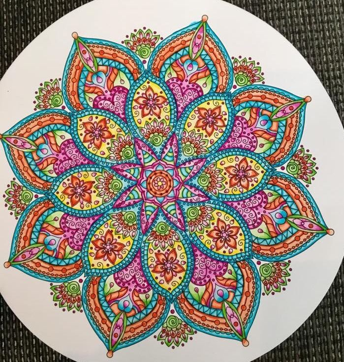 best 25 colorful mandala tattoo ideas on pinterest