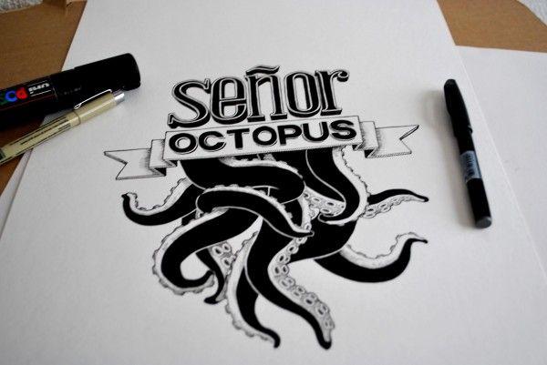 La typographie selon Senor Octopus !