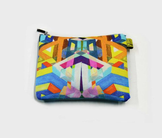 Abstract Geometric Print Mobile Pouch    Light Blue by LauraNadile, $36.00