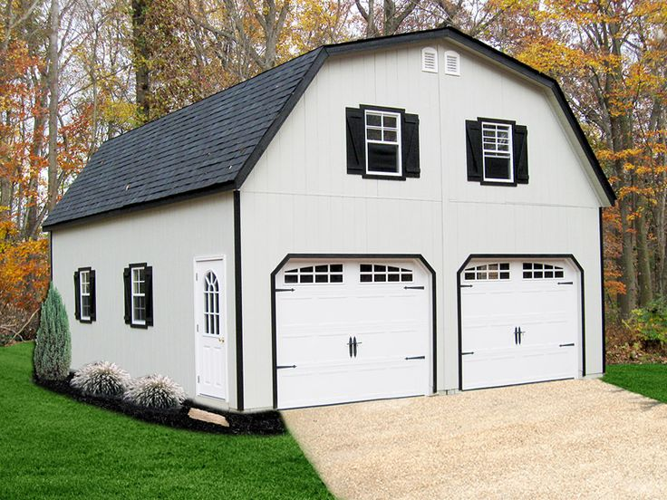 Gambrel Roof 2 Story Double Wide Garage Garage plans