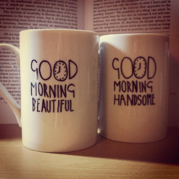 Set of Two Hand Decorated Mugs // His & Hers by SecondHeartCrafts, £6.00