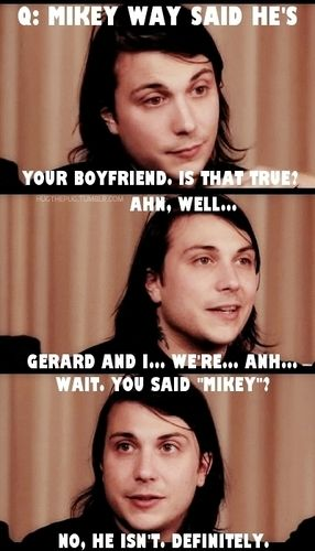 Lol he automatically started talking about Gerard xD