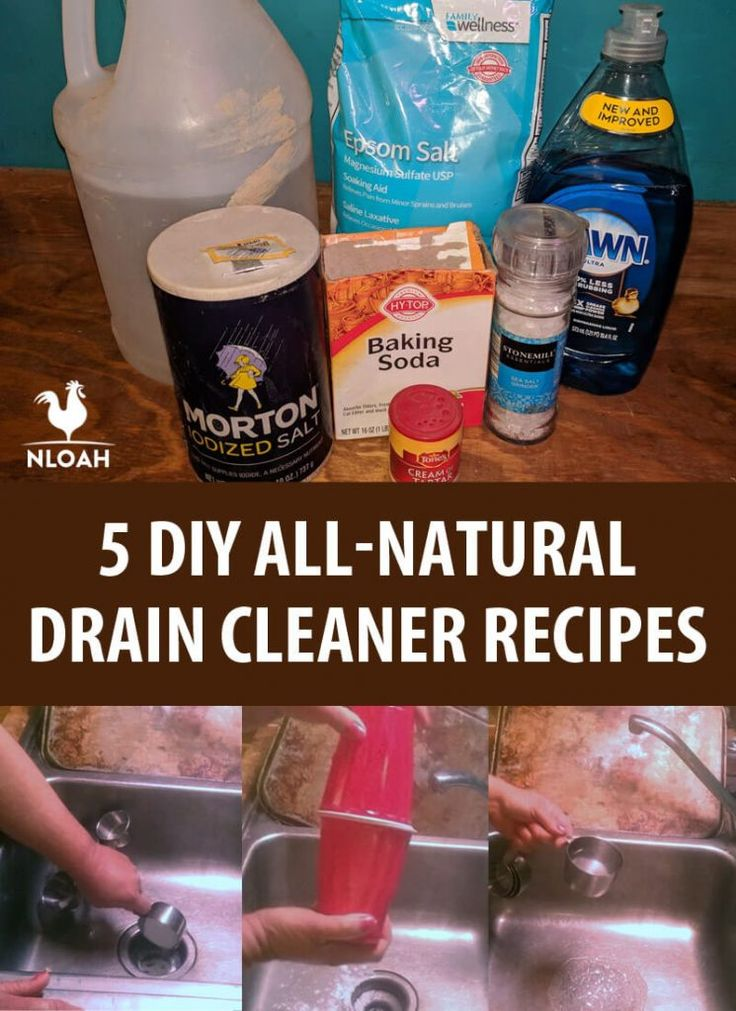 5 DIY All-Natural Drain Cleaner Recipes | Drain cleaner ...