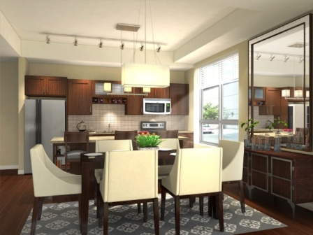 All kitchens have granite, stainless appliances and center islands.