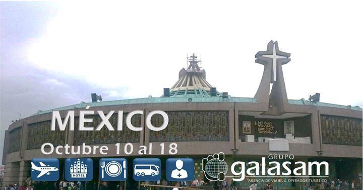 Queremos invitarlos a la peregrinación a #México visitando la #BasílicaDeGuadalupe del 10 al 18 de octubre. Acompañamiento del P. Francisco Sojos. Informes: 0990073222 peregrinaciones@galasam.com.ec 8 Noches  9 Días visitaremos: Ciudad de México - Basílica de Guadalupe - Cuautitlán - Teotihuacán  - Morelia   - Guadalajara  - Tequila  Rancho de Vicente Fernández - Zapopan    San Juan de los Lagos - Dolores Hidalgo  - Guanajuato  - Cerro del Cubilete - San Miguel de Allende - Xochimilco.