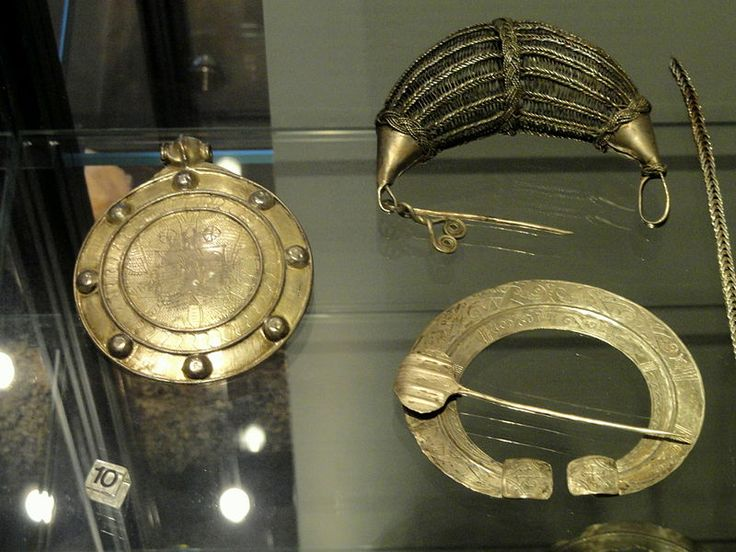 Kilpola hoard objects from Hiitola, including disk pendant from Byzantium, 12th to 13th century - National Museum of Finland