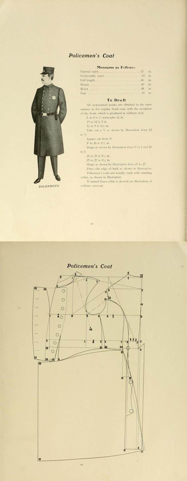 1907 Policemen's coat pattern