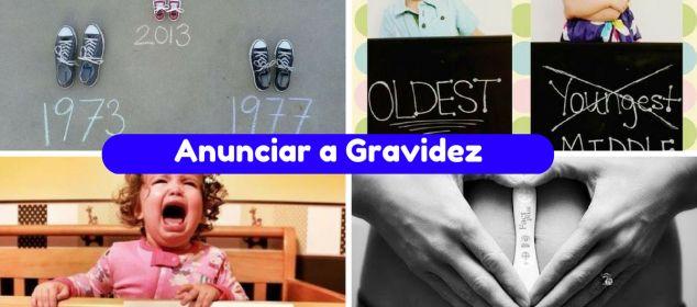 10+ Ideias mais Criativas para Anunciar a Gravidez