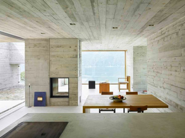 Living: concrete house in S.Abbondio