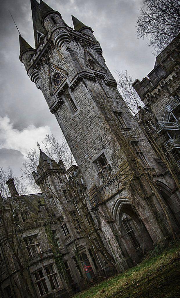 """Abandoned castle.. """"Château de Noisy"""" in Celles, Belgium"""